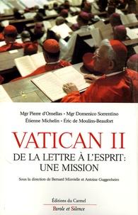 Bernard Menvielle et Antoine Guggenheim - Vatican II : de la lettre à l'esprit, une mission.
