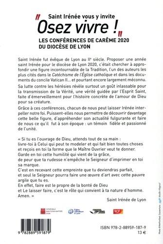 """""""Osez vivre !"""", Saint Irénée vous y invite. Les Conférences de Carême 2020 du Diocèse de Lyon"""