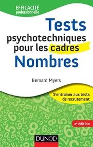 Tests psychotechniques pour les cadres : Nombres - Bernard Myers |