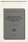 Bernard Philippe Groslier - Mélanges sur l'archéologie du Cambodge (1949-1986).