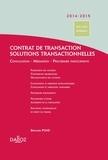 Bernard Pons - Contrat de transaction, solutions transactionnelles - Conciliation, médiation, procédure participative.