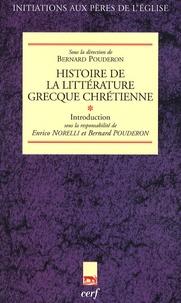 Deedr.fr Histoire de la littérature grecque chrétienne - Tome 1, Introduction Image
