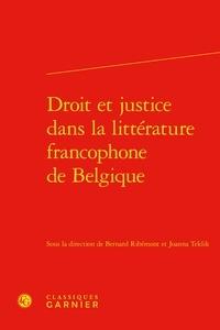 Bernard Ribémont et Joanna Teklik - Droit et justice dans la littérature francophone de Belgique.