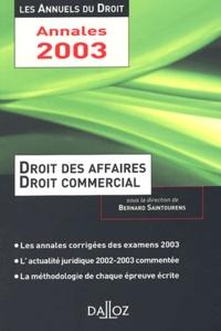 Bernard Saintourens - Droit des affaires et droit commercial.