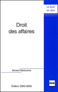 Bernard Saintourens - Droit des affaires.