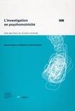 Bernard Senn et Raffaella Poncioni-Derigo - L'investigation en psychomotricité - Etat des lieux en Suisse romande.
