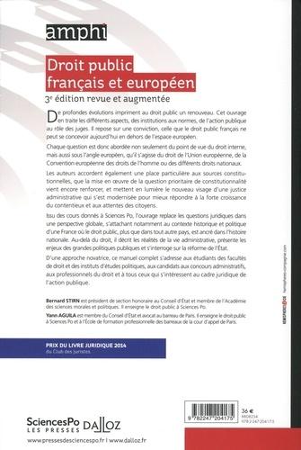 Droit public français et européen 3e édition revue et augmentée