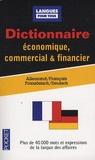 Bernard Straub et Jürgen Boelcke - Dictionnaire économique, commercial & financier - Allemand-Français.
