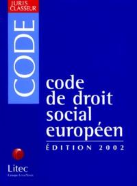 Code de droit social européen. Edition 2002.pdf