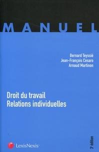 Bernard Teyssié et Jean-François Cesaro - Droit du travail - Relations individuelles.