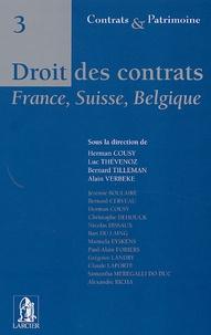 Bernard Tilleman et Herman Cousy - Droit des contrats - France, Suisse, Belgique.