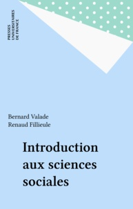 Bernard Valade - Introduction aux sciences sociales.