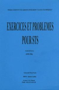 Bernard Verlant - Exercices et problèmes de BTS classés par modules - Fascicule 4.
