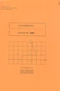 Bernard Verlant - Les épreuves de mathématiques aux BTS 2008.