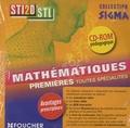 Bernard Verlant et Philippe Dutarte - Mathématiques 1re Première Bac STI2D-STL Sigma. 1 Cédérom