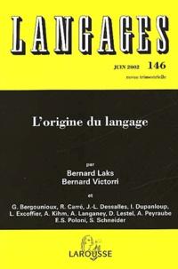 Bernard Victorri et  Collectif - Langages N° 146 Juin 2002 : L'origine du langage.