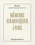 Bernin - Mémoire sur mon séjour à Paris.