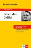"""Bertolt Brecht """"Leben des Galilei"""" - inklusive Abitur-Fragen mit Lösungen. Ausführliche Inhaltsangabe mit Interpretation."""