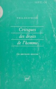 Bertrand Binoche - Critique des droits de l'homme.