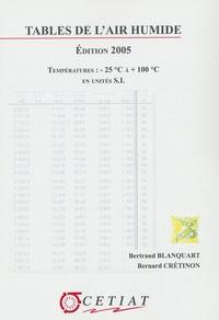 Bertrand Blanquart et Bernard Cretinon - Tables de l'air humide - Températures : - 25 °C à + 100°C en unités SI.