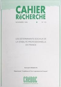 Bertrand Chokrane et  Centre de recherche pour l'étu - Les déterminants sociaux de la stabilité professionnelle en France.