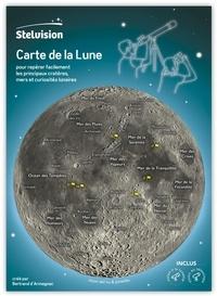 Bertrand d' Armagnac - Carte de la Lune - Pour repérer facilement les principaux cratères, mers et curiosités lunaires.