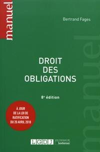 Bertrand Fages - Droit des obligations.