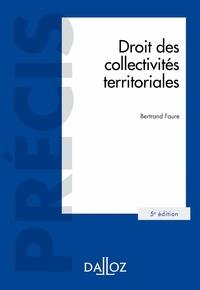 Droit des collectivités territoriales - Bertrand Faure pdf epub