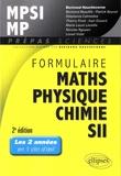 Bertrand Hauchecorne - Formulaire MPSI/MP, mathématiques, physique-chimie, SII.
