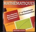 Alain Redding et Lionel Dupuydauby - Mathématiques 1re et Tle professionnelles Groupement C. 1 Cédérom