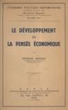 Bertrand Nogaro - Le développement de la pensée économique.