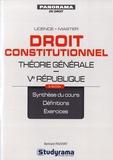 Bertrand Pauvert - Droit constitutionnel - Théorie générale, Ve République.