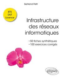 Bertrand Petit - Infrastructure des réseaux informatiques - 50 fiches synthétiques et 100 exercices corrigés BTS-DUT-Licence.