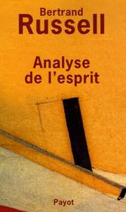 Bertrand Russell - Analyse de l'esprit.