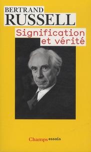 Signification et vérité - Bertrand Russell |
