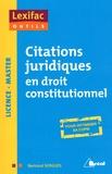 Bertrand Sergues - Citations juridiques en droit constitutionnel.