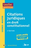 Bertrand Sergues - Citations juridiques en droit constitutionnel.