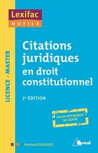 Telecharger Citations Juridiques En Droit Constitutionnel Pdf