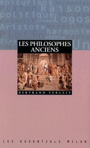 Les philosophes anciens
