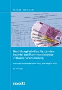 Besoldungstabellen für Landesbeamte und Kommunalbeamte in Baden-Württemberg mit den Erhöhungen zum März und August 2012.