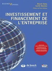 Beysül Aytaç et Cyrille Mandou - Investissement et financement de l'entreprise.