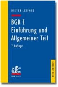 BGB I: Einführung und Allgemeiner Teil - Ein Lehrbuch mit Fällen und Kontrollfragen.