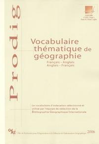 BGI - Vocabulaire thématique de géographie français-anglais et anglais-français.