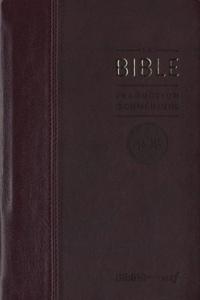 Bibli'O - La Bible TOB - Traduction oecuménique avec introductions, notes essentielles, glossaire, reliure semi-rigide, couverture similicuir bordeaux, tranches or.