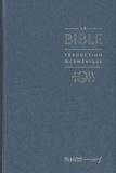 Bibli'O - La Bible TOB - Traduction oecuménique avec introductions, notes essentielles, glossaire, Reliure rigide, Couverture balacron bleu nuit.