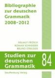Bibliographie zur deutschen Grammatik 2008-2012.