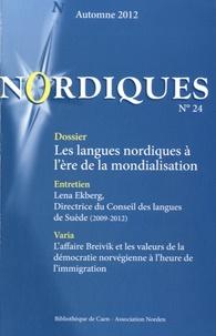 Karl Gadelii et Jonas Löfström - Nordiques N° 24, automne 2012 : Les langues nordiques à l'ère de la mondialisation.