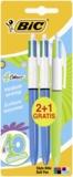 BIC CONTE - 2 stylos bille 4 couleurs + 1 gratuit