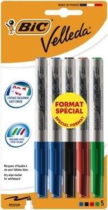 BIC CONTE - 5 feutres marqueurs Velleda Original 4 couleurs
