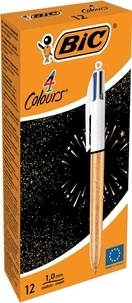 BIC CONTE - Boite de 12 stylo 4 couleurs festif